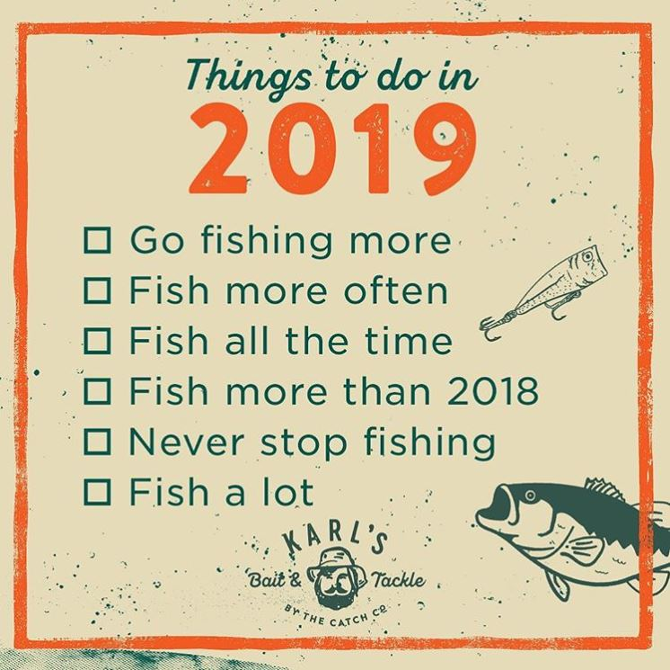 2019 fishing goals, catch more fish 2019