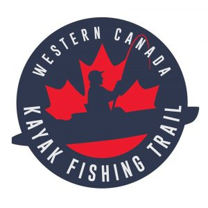 Western canada kayak fishing trail logo