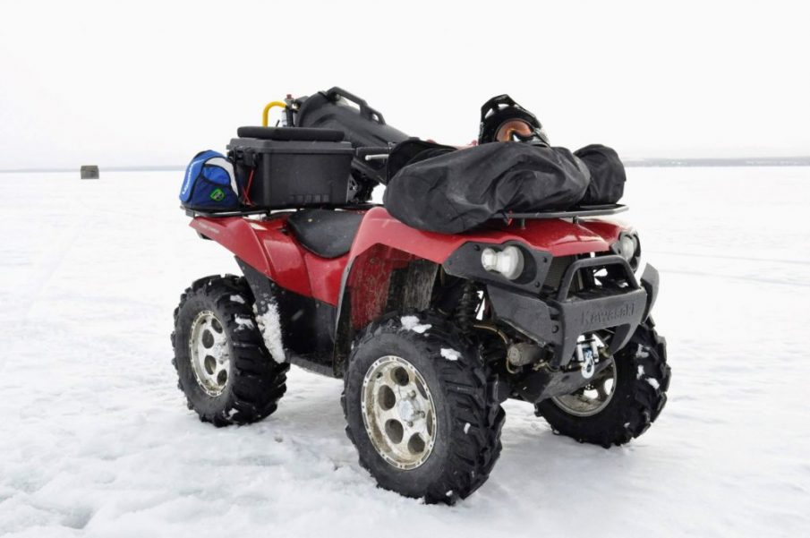 atv, quad, ice fishing