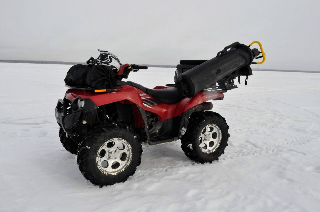 ice fishing, quad, atv