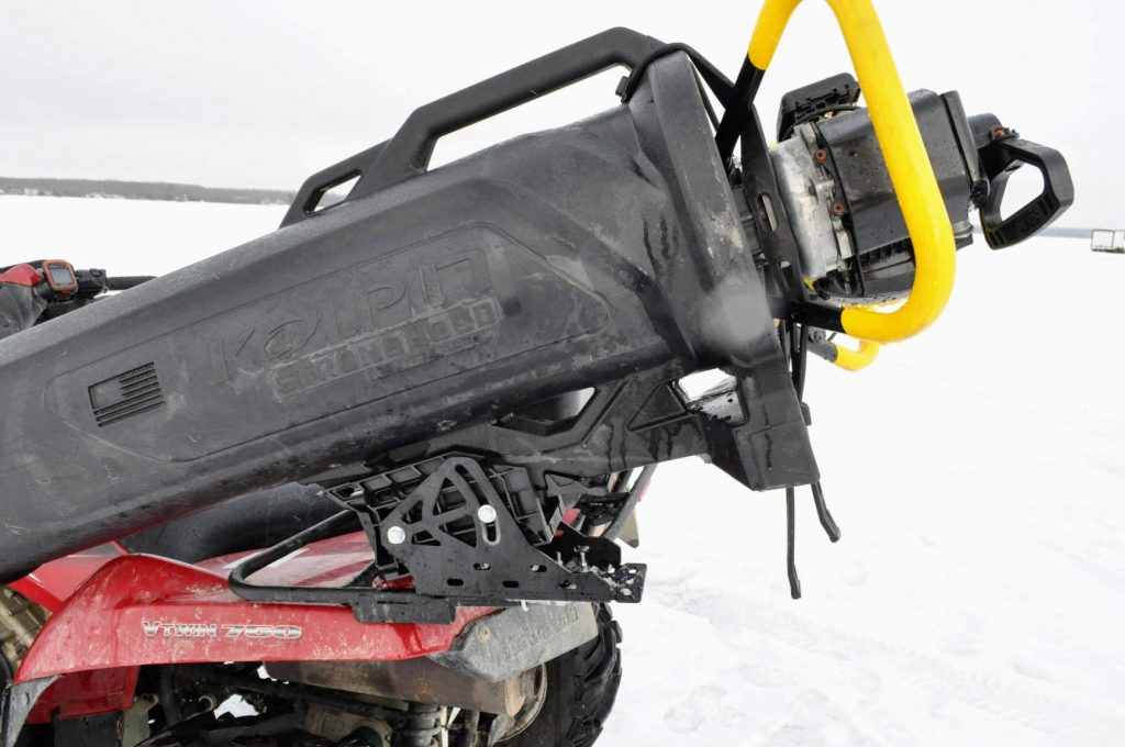 ice fishing, quad, atv, auger mount