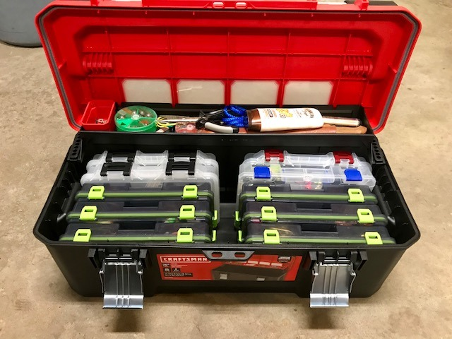 Craftsman Toolbox holds all my fishing gear