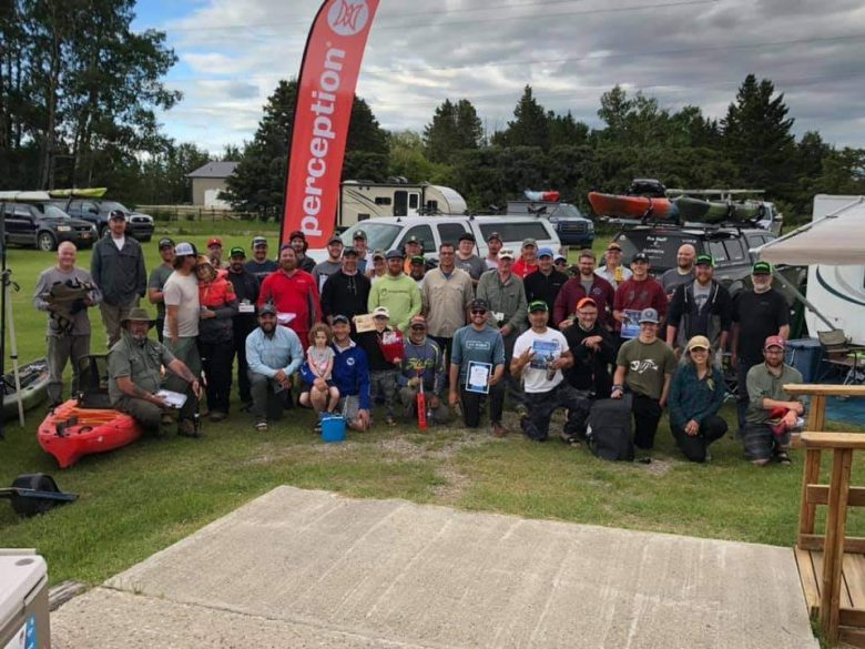 Group photo - 2019 Eastslope Kayak Fishing Classic