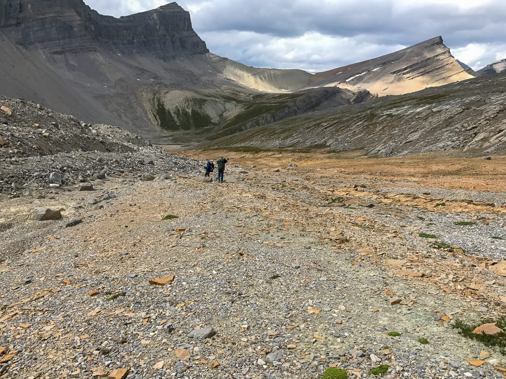 The peak of the trail to Michele Lakes