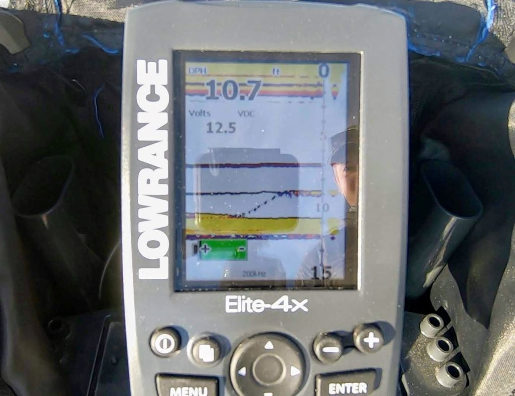 Lowrance ice machine, flasher