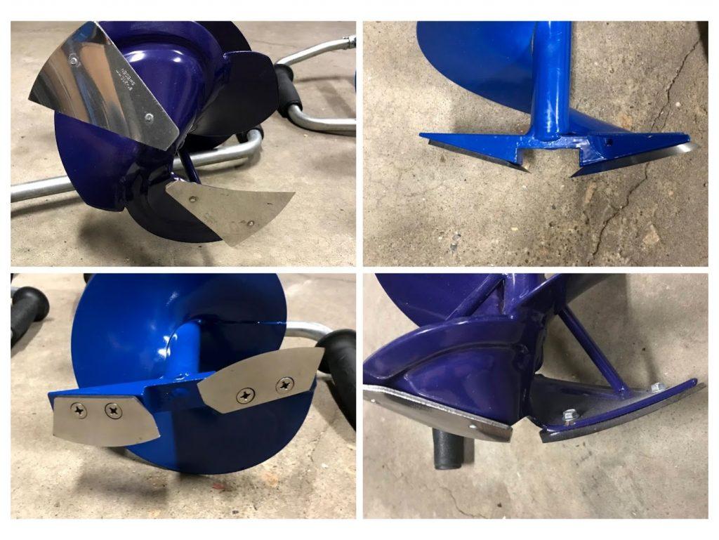 nero and fin bore ice auger blade profiles