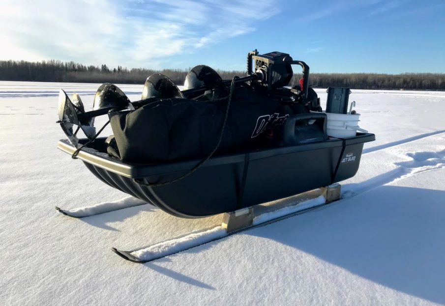 ice fishing smitty sled