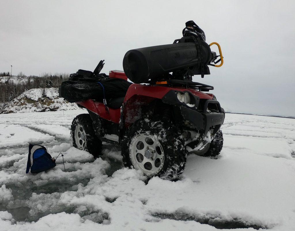 ice fishing atv