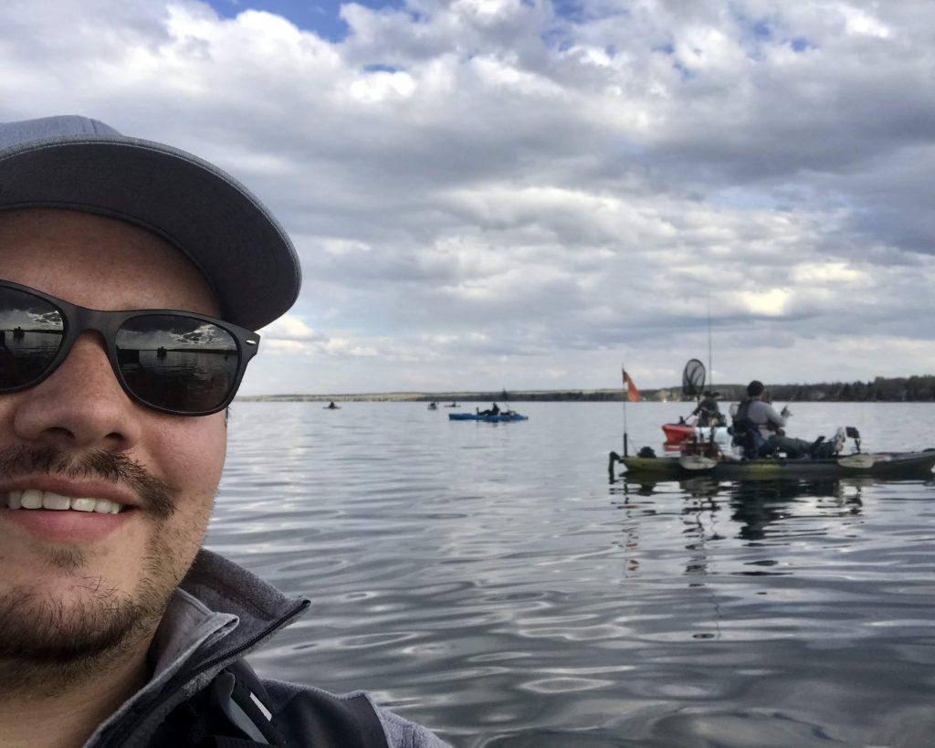 kayak anglers on the water together