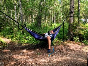 Hammock camping with the dog