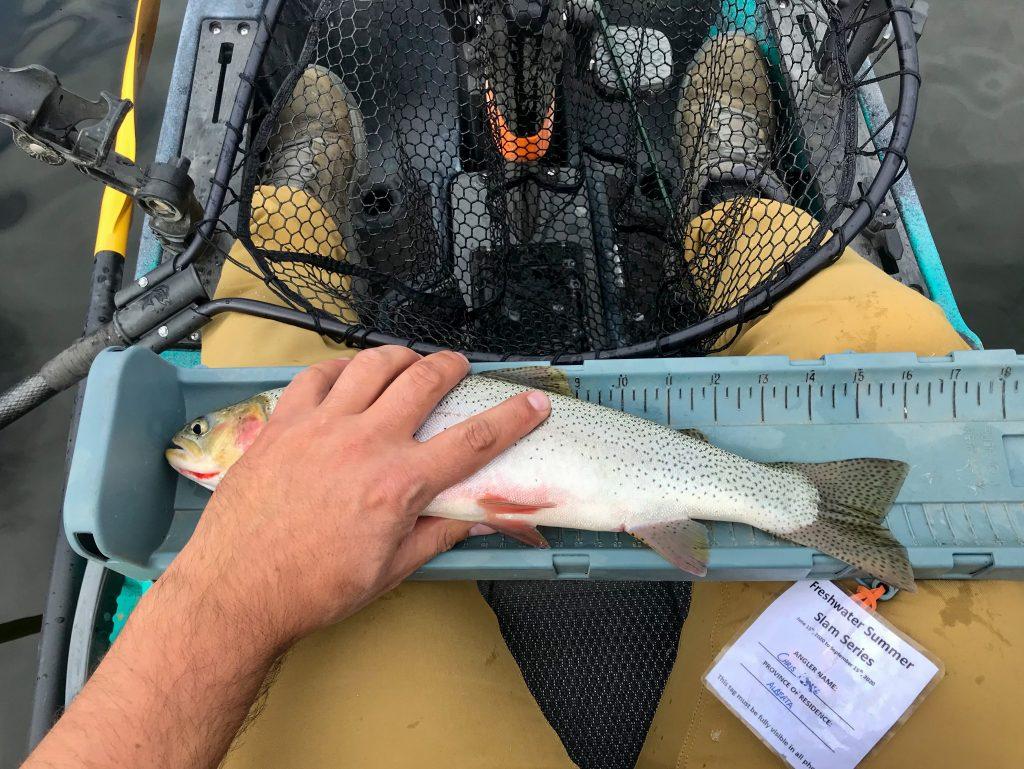 cutthroat trout kayak fishing