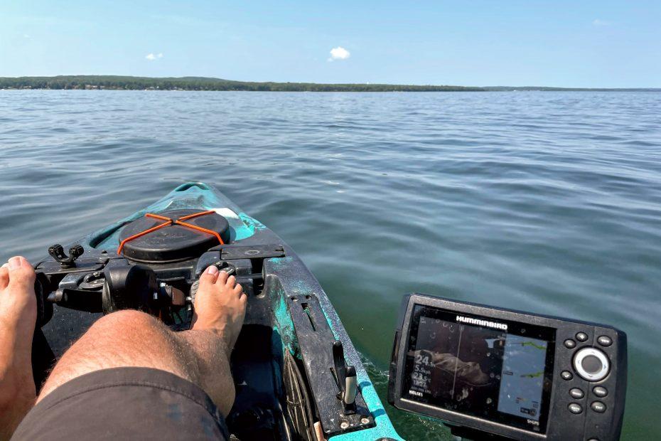 kayak fishing pigeon lake